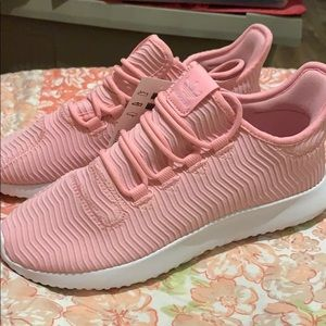 Pink adidas tubular